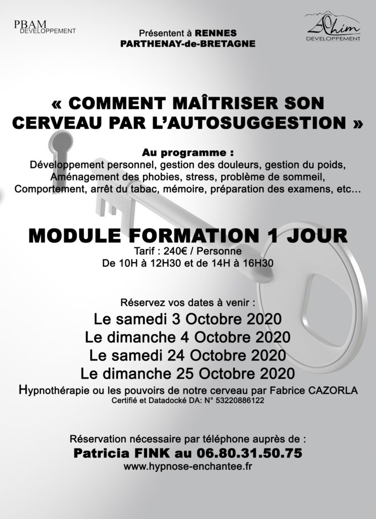Formation auto hypnose Rennes