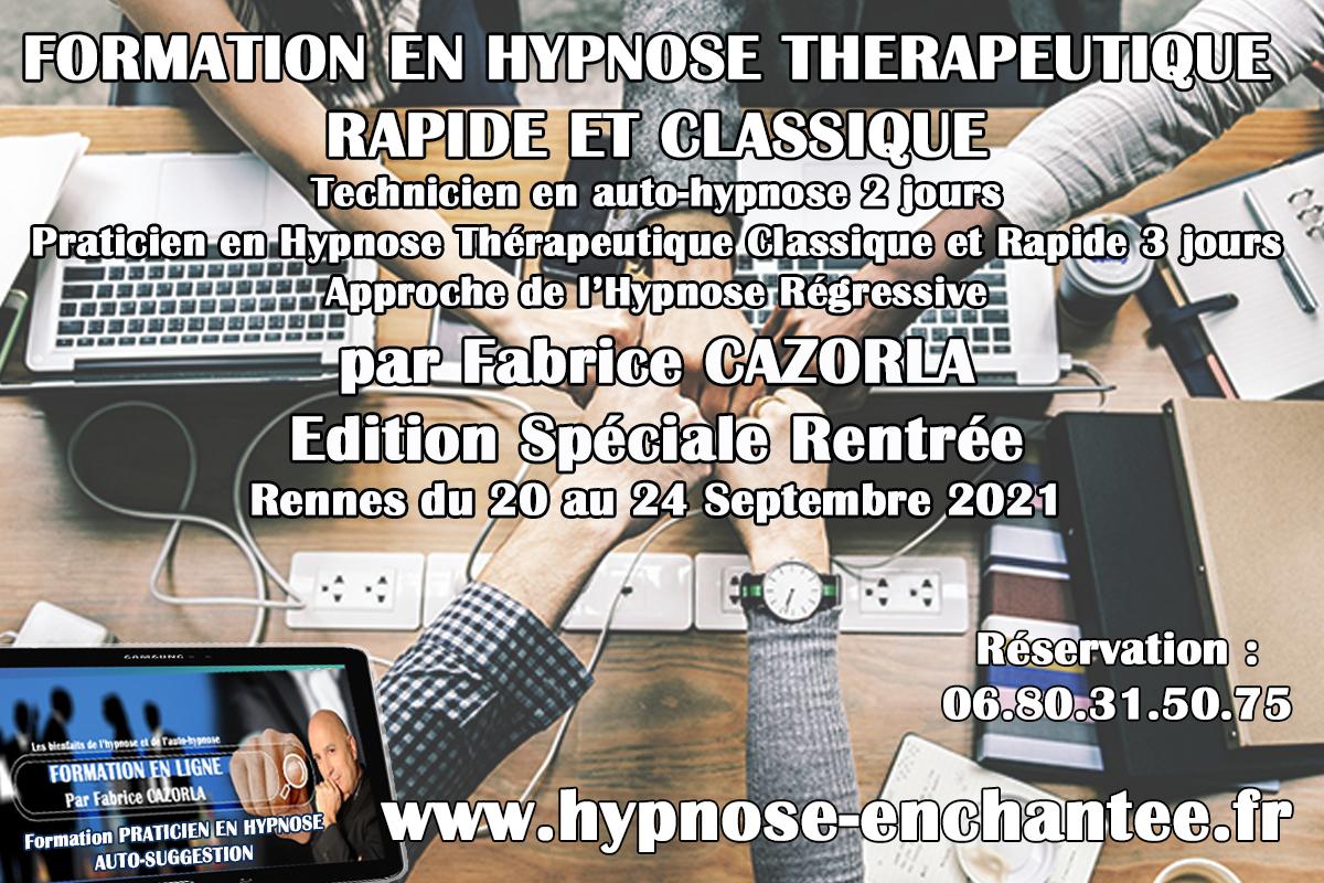 FORMATION EN HYPNOSE : ÉDITION SPÉCIALE RENTRÉE avec Fabrice CAZORLA du 20 au 24 septembre 2021 en Bretagne